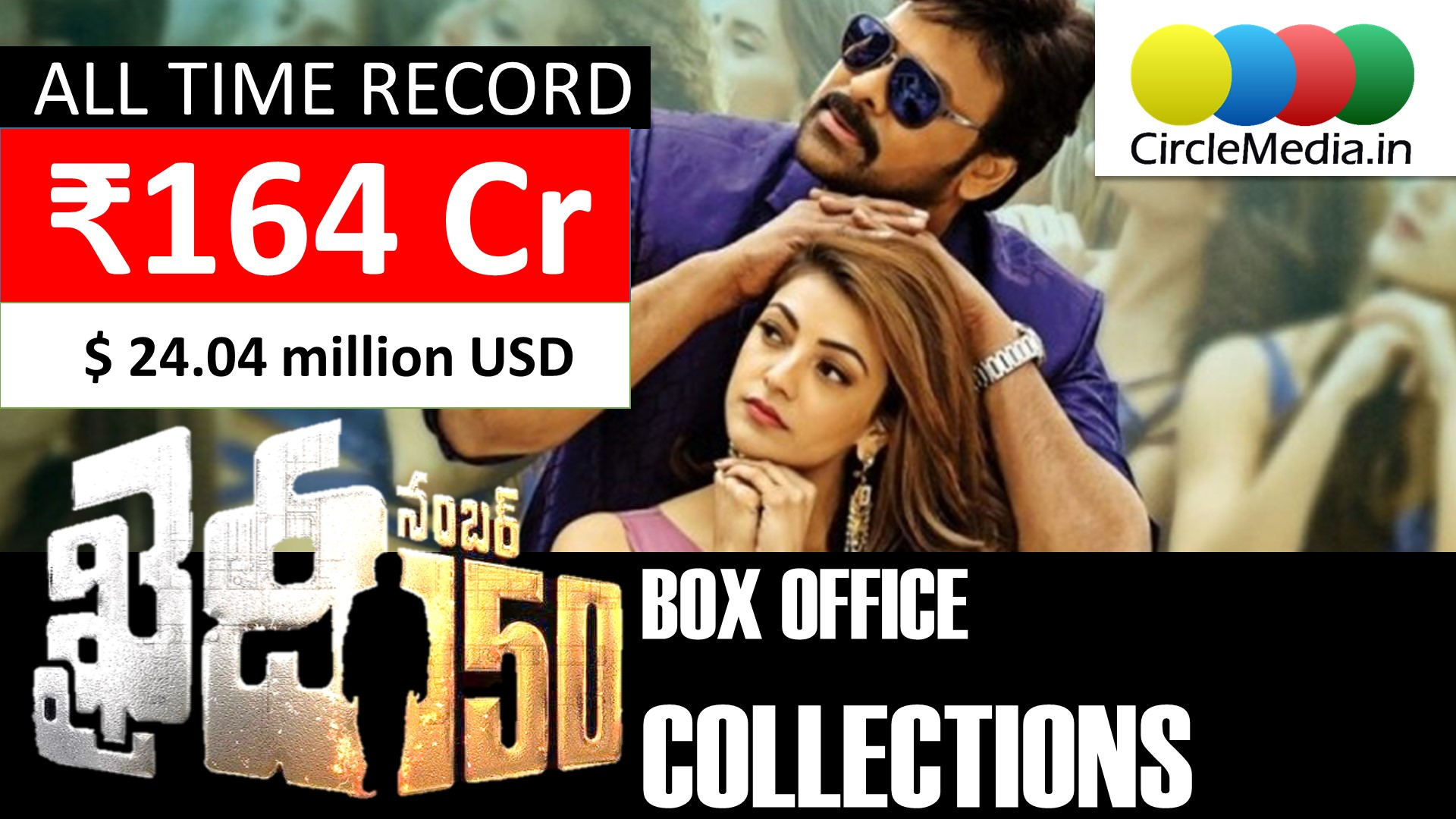 Khaidi No 150 All Time Film Industry Record Collections | Rs 164 crore worldwide